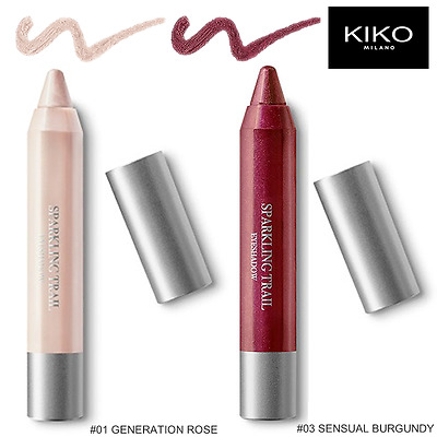 KIKO SPARKLING TRAIL Lotto 2x MATITONI OMBRETTO #01 #03 Lot 2x Eyeshadow Pencils