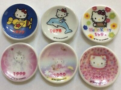 Sanrio Japan Hello Kitty Ceramic Plate Trinkets X 6