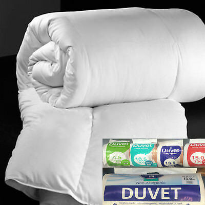 COROVIN Or POLYCOTTON DUVET QUILT, Single Double King Size 4.5 10.5 13.5 15 TOG