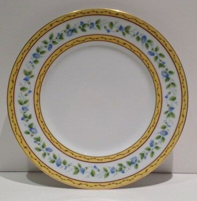 """Raynaud Morning Glory Dinner Plate(s) 10"""" France white w / Flowers Limoges"""