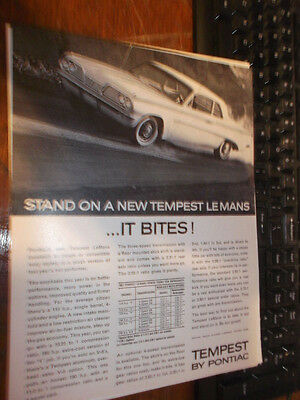 1962 Pontiac Tempest Magazine ad-Same Car, Different ad
