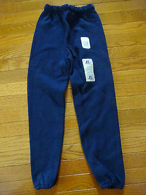 Youth Navy Blue Russell Sweat Pants Sz. S