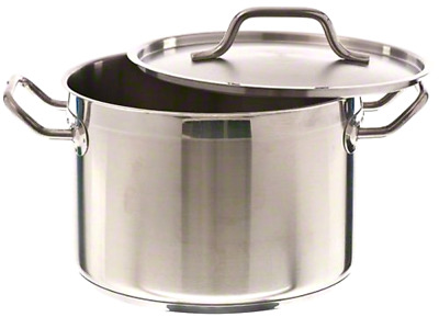 8 Quart Stockpot Qt Stainless Steel Induction Ready Nsf Lid Cover Restaurant's