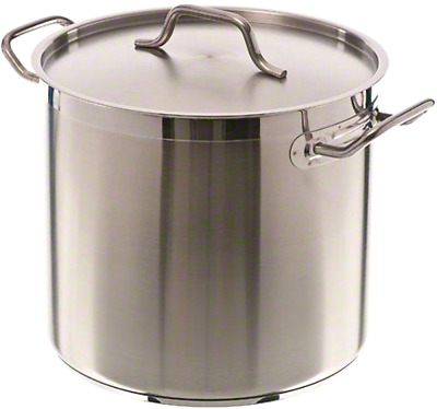 16 Quart Stockpot Qt Stainless Steel Induction Ready Nsf Lid Cover