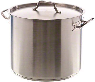 32 Quart Stockpot Qt Stainless Steel Induction Ready Nsf Lid Cover