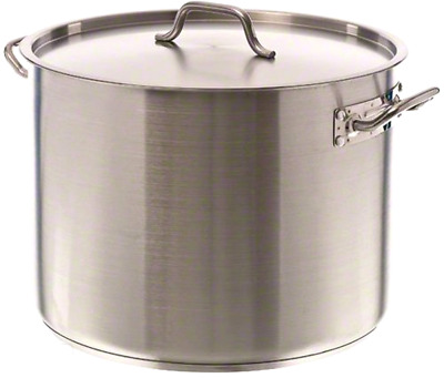 40 Quart Stockpot Qt Stainless Steel Induction Ready Nsf Lid Cover Commercial
