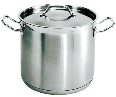 100 Quart Stockpot Qt Stainless Steel Induction Ready Nsf Lid Cover Commercial