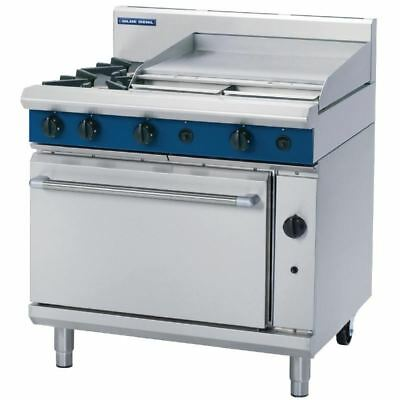 Blue Seal 900mm Oven Range with 2 Burners and Griddle