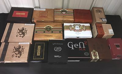 Empty Cigar Boxes!! Large Lot of 15 Assorted! F3