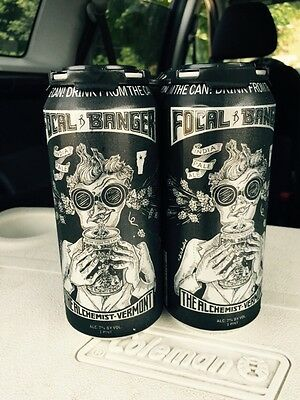 "FOCAL BANGER by the Alchemist Vermont IPA (4 CANS)--FRESH ""FULL"" Heady Topper"