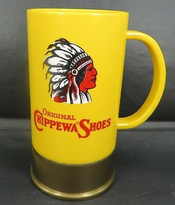 CHIPPEWA Indian SHOES BIG SHOT mug USA shot gun shell design Falls Wisconsin OLD