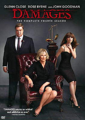 The Damages: The Complete Fourth Season (DVD, 2012, 3-Disc Set) NEW