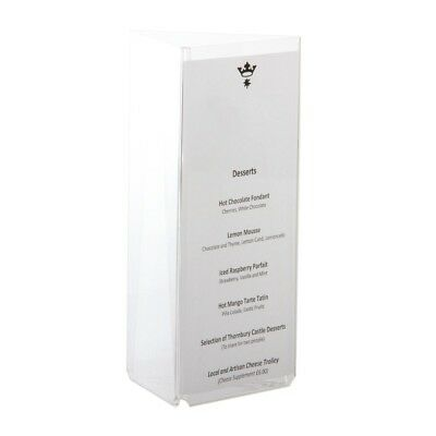 Olympia Three Sided Menu Holder Plastic