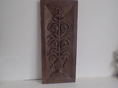 Antique Architectural Wood Plaque Hand carved 47 x 20cms