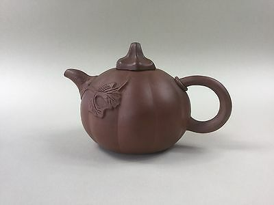 19th/20th Century Melon Shaped Yixing Teapot