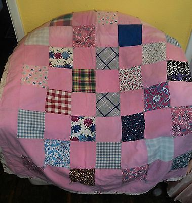 Nice Handmade Antique/Vintage Quilt ~ 1930's-40's ~ Some Fading