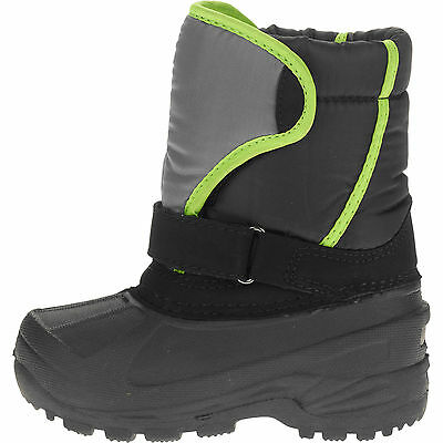 Toddler kids winter Snow rain boots size 5 temp -5 cold weather New green black