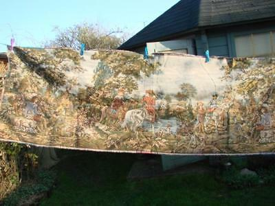 Vintage Woven Tapestry Jacquard Panel Depicting An Historical Scene 208Cm X 69Cm