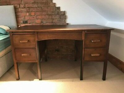 1950s Large Oak Abbess Desk