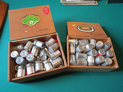Giant LOT of 86 Vintage aluminum 35mm film canisters! Great Deal on the LOT!
