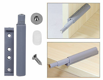 New Drawer Door Cabinet Catch Push To Open Magnetic Tip Latch Touch Release Grey