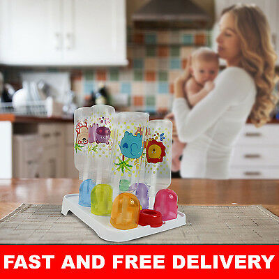 Baby Bottle Drying Rack Holds 9 Bottles And Lids Easy Storage Sterile Clean
