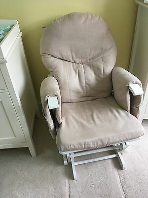 glider chair and footstool
