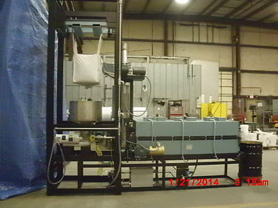 """Thermcraft rotary tube furnace 8.25"""" x 72"""". Set up with 6"""" quartz tube"""