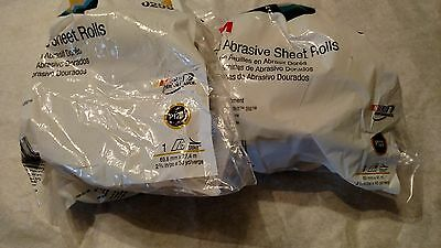 3M Gold Stikit sandpaper rolls lot of 2, 120 and 320 grit