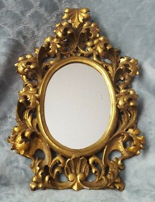antique gold gilt gesso frame ornate baroque victorian scroll