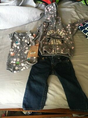 True Religion Baby Boys 3 Piece Set Clothes sz: 6-12 Months