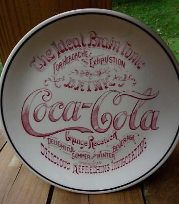 Vintage Drink Coca Cola The Ideal Brain Tonic Change Receiver China Plate