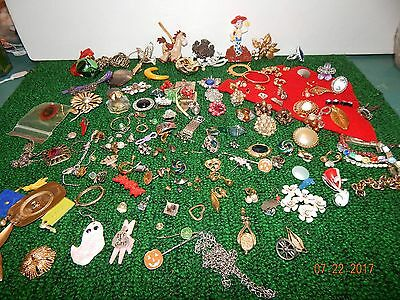 Assorted Jewelry pieces 1 lb 6 oz mixed earings pins rings