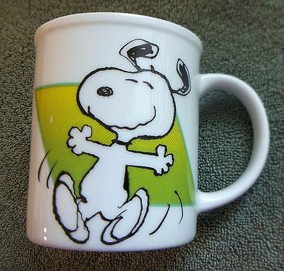 Vintage SNOOPY Peanuts Coffee Mug Cup 1958 To Live Is To Dance    Free Shipping