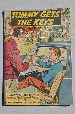 """Vintage """"Tommy Gets The Keys"""" comic book, 1965, B.F. Goodrich Safety, COOL!!"""
