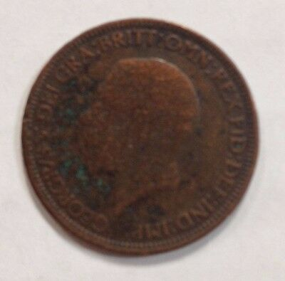 GREAT BRITAIN 1932 King George V HALF PENNY