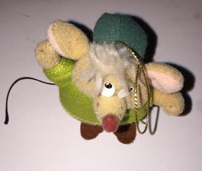 Vintage The Walt Disney Co Cinderella Mouse Gus Christmas Tree Ornament