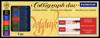 5 sets STAEDTLER CALLIGRAPHY DUO MARKER 5pc pack (25 markers)
