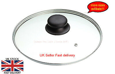 New Tempered Glass Vented Replacement pan Lid Saucepans Casseroles Frying Pan