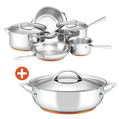 NEW Essteele Per Vita 5 Piece Cookware Set with Free Covered Saute Pan Induction