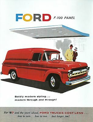 1957 Ford Panel Truck Sales Brochure-F-100-Full Color