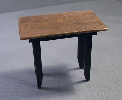 1 handcrafted miniature wooden table for dollhouse 1:12 scale LesBonArts