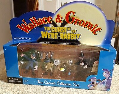 Wallace and Gromit Curse of Were Rabbit McFarlane The Carrot Collector Set