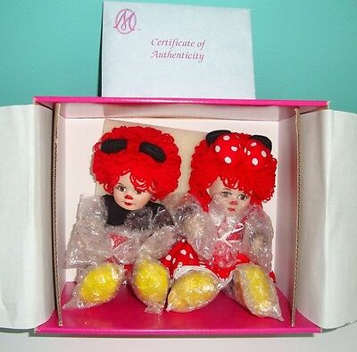 Marie Osmond Disney Mickey and Minnie Tiny Tots  MINT IN BOX- NEVER DISPLAYED