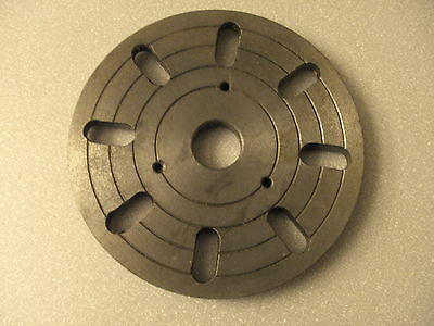 """MACHINIST TOOL LATHE MILL 6 1/4"""" Lathe Face Plate 1"""" Center 2 3/16"""" Recessed Hub"""