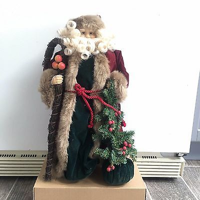 Old World Santa Clause Holiday Decor Tree Topper Centerpiece 18 Inch Christmas