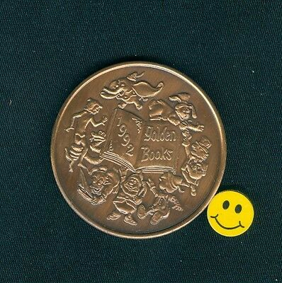 DUMBO - ELEPHANT - CHARACTERS FROM THE GOLDEN BOOKS Antique Bronze Doubloon 1992