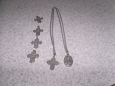 """Virgin of Carme, Catholic Charm Necklace, 6 Charms, 23""""Chain"""