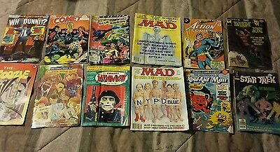 A Set of 8 comic books - from Bronze age comics-Whitman & others