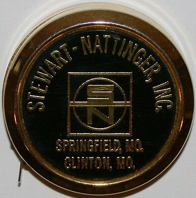 Vintage tape measure STEWART NATTINGER INC Springfield and Clinton Missouri